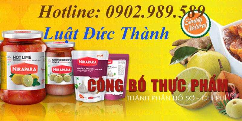 Dịch vụ công bố thực phẩm trọn gói