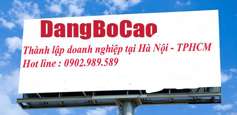 Thủ tục đăng bố cáo thành lập doanh nghiệp Hà Nội giá rẻ