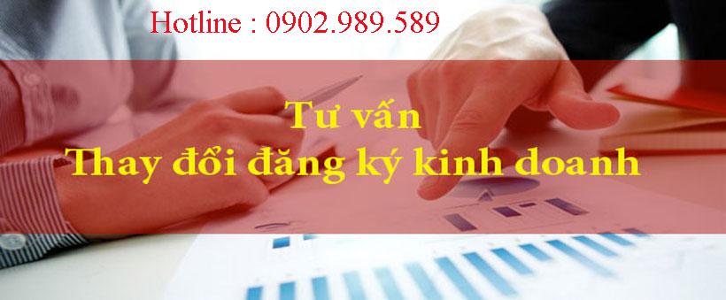 thay đổi đăng ký kinh doanh đúng quy trình