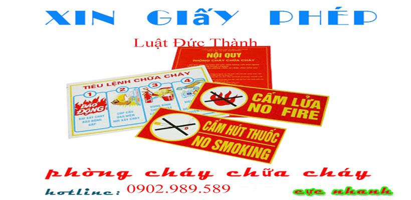 Xin cấp giấy phép phòng cháy chữa cháy